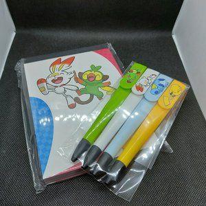 Pokemon Stationary, Pens, & Sticker Set